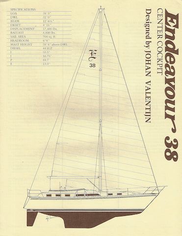 Endeavour 38 Center Cockpit Specification Brochure
