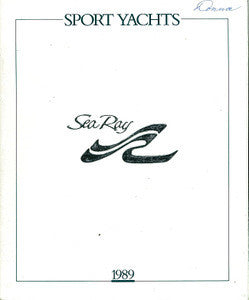 Sea Ray 1989 Sport Yachts Brochure