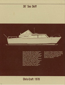 Chris Craft Sea Skiff 30 Specification Brochure