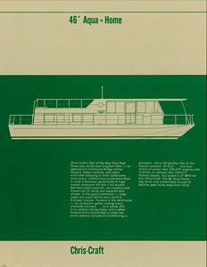 Chris Craft Aqua Home 46 Specification Brochure