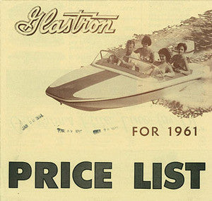 Glastron 1961 Price List