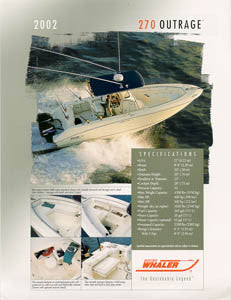 Boston Whaler 270 Outrage Brochure