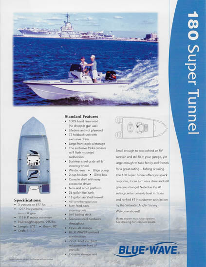 Blue Wave 180 Super Tunnel / T Special Brochure