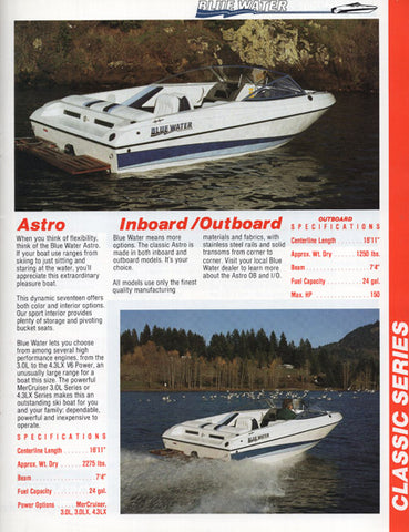 Bluewater 1993 Brochure