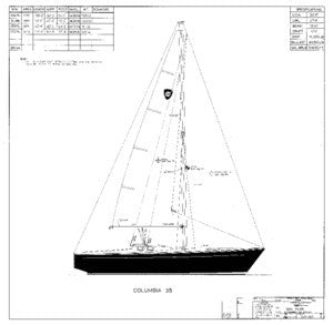 Columbia 35 Sail Plan
