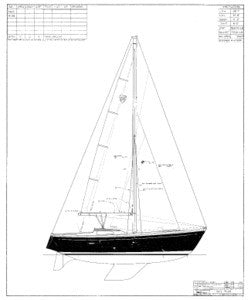 Columbia 39 Sail Plan