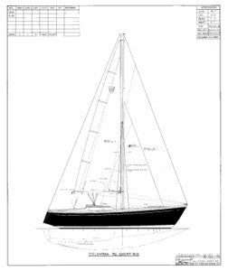 Columbia 39 Sail Plan - Short Rig