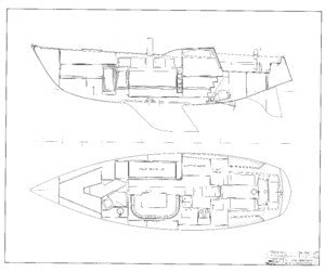 Columbia 39 Interior Arrangement  Plan - Page 1