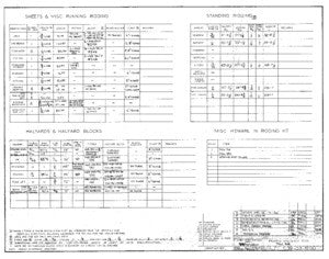 Columbia 39 Rigging Specifications Plan - Tall Rig