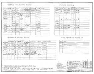 Columbia 39 Rigging Specifications Plan - Short Rig