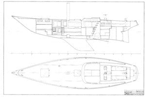 Columbia 52 Interior Arrangement Plan - Deck