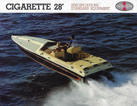Cigarette 28 Specification Brochure