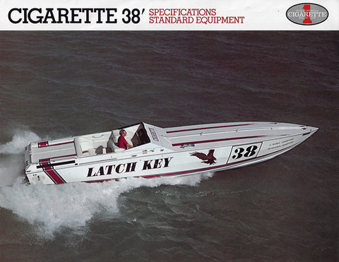 Cigarette 38 Specification Brochure