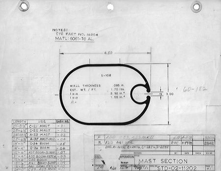 Columbia Yachts Mast Section Plan