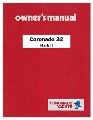Coronado 32 Mk II Owner's Manual