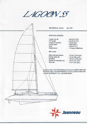 Lagoon 55 Specification Brochure