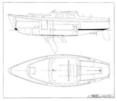 Coronado 27 Interior Arrangement Plan - Centerboard Model