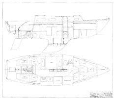 Coronado 28 Interior Arrangement Plan