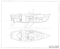 Coronado 32 Interior Arrangement Plan