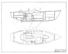 Coronado 35 Interior Arrangement Plan
