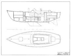 Coronado 35 Interior Arrangement Plan - Shoal Draft Page 2