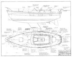 Coronado 35 Optional Deck Hardware Plan