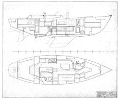 Coronado 41 Interior Arrangement Plan