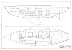 Coronado 45 Interior Arrangement Plan