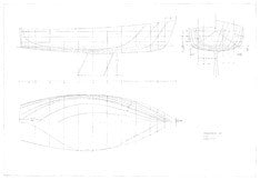 Columbia 22 Hull Lines Plan