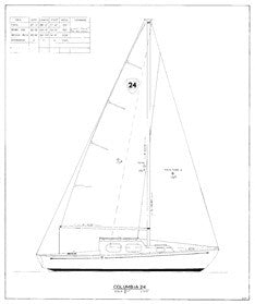 Columbia 24 Sail Plan
