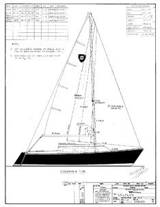 Columbia T26 Sail Plan