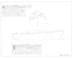 Columbia 26 Mk II Deck Offsets Plan
