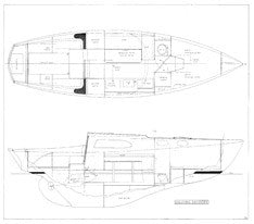 Columbia Defender Interior Layout & Starboard Profile Plan