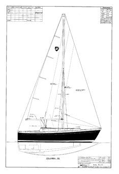 Columbia 30 Sail Plan
