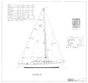 Columbia 31 Sail Plan
