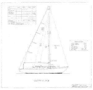 Columbia 31 Mark II Sail Plan