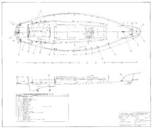 Columbia 31 Deck Hardware Plan