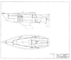 Columbia 32 Interior Arrangement Plan [Deck]