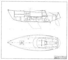Columbia 34 Mk II Interior Arrangement Plan - Page 2