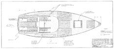 Columbia 34 Mk II Deck Wood Plan