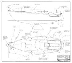 Columbia 34 Mk II Deck Hardware Plan