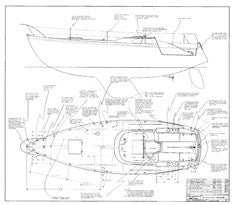Columbia 34 Mk II Optional Deck Hardware Plan
