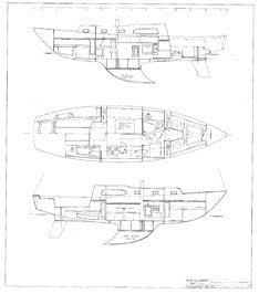 Columbia 36 Interior Arrangement Plan