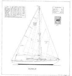 Columbia 40 Sail Plan