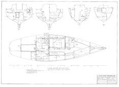 Columbia 40 Interior Layout & Joiner Sections w/ Wiring Routing Plan