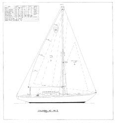 Columbia 40 Sail Plan - Mark II