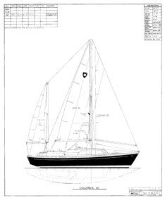 Columbia 41 Sail Plan - Ketch