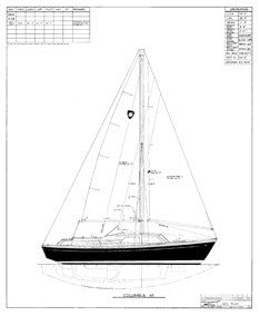 Columbia 41 Sail Plan