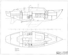 Columbia 41 Interior Arrangement Plan - Page 1