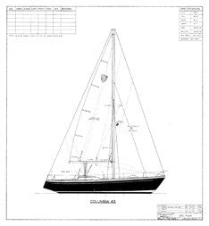 Columbia 43 Sail Plan